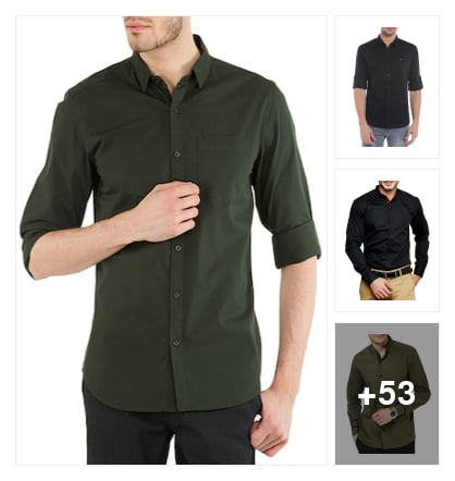 Business casual shirts for men's . Online shopping look by Pinki