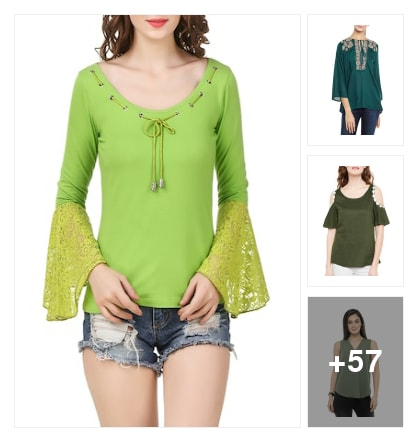 All Trendy 'Green Top'. Online shopping look by Seema