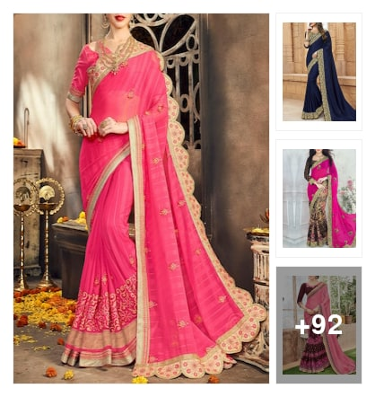 party wear colourful sarees for women's . Online shopping look by naidu