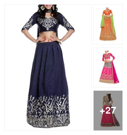 Lehengas. Online shopping look by Rekha
