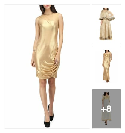 Dipped in gold. Online shopping look by Chandra