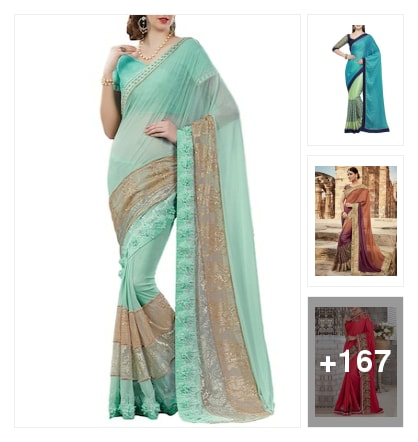 Traditional and new wedding sarees. Online shopping look by chinna