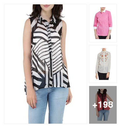 March trendy shirts . Online shopping look by kalpana