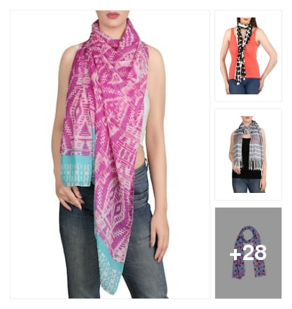 Fresh scarves  for new fashion. Online shopping look by kumar
