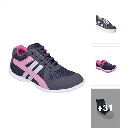 Sports shoes. Online shopping look by kavya