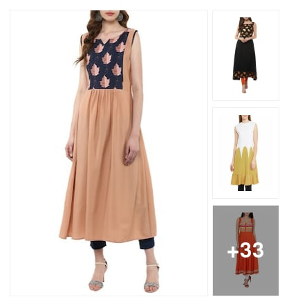 Crape flores kurtas for short night teens. Online shopping look by goda