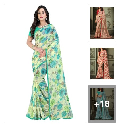 printed saree. Online shopping look by Neelam