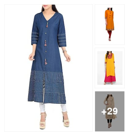 kurtas. Online shopping look by Guru