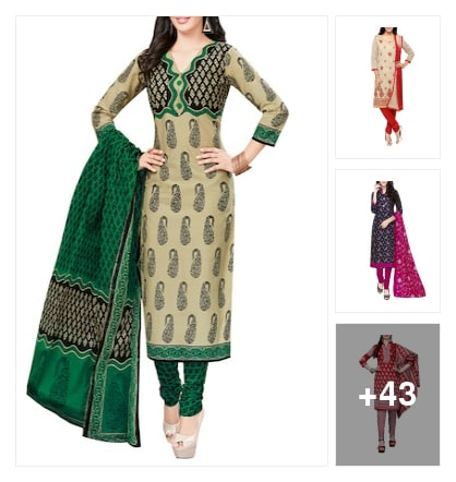Dressmaterials For Girls . Online shopping look by BinduGupta
