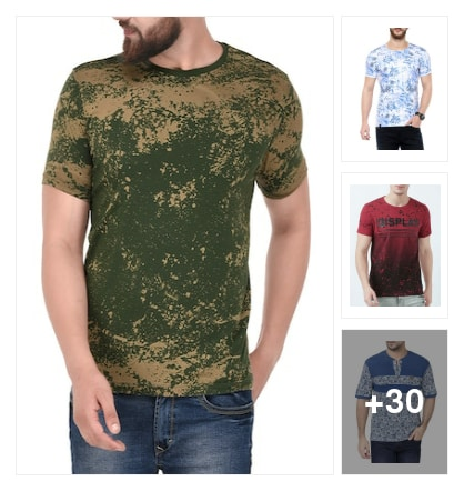 T shirts for men. Online shopping look by Joyful