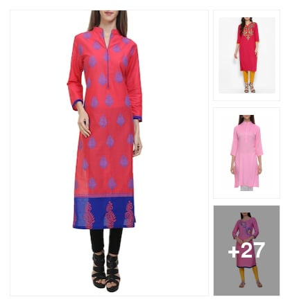 Wonderful  Kurtas  for  Prettiest  Hue. Online shopping look by lumbu