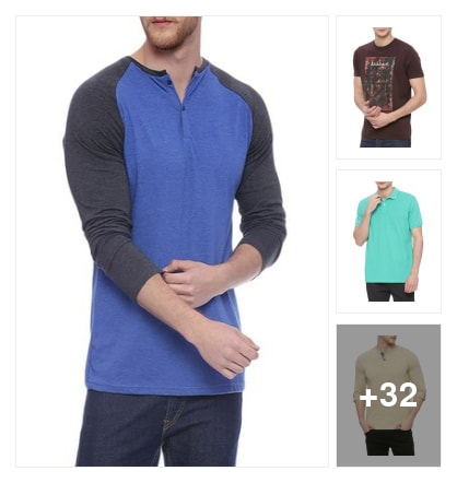 Fine t shirts for men. Online shopping look by Joyful