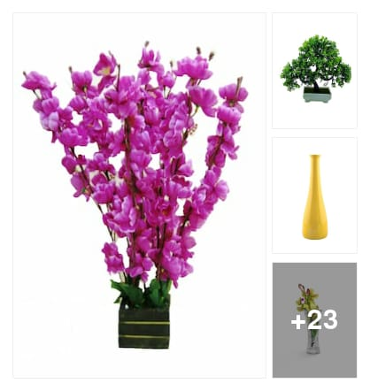 Vases and flowers. Online shopping look by lahari