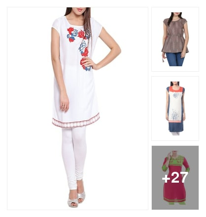 Trend new kurtas. Online shopping look by Pooja