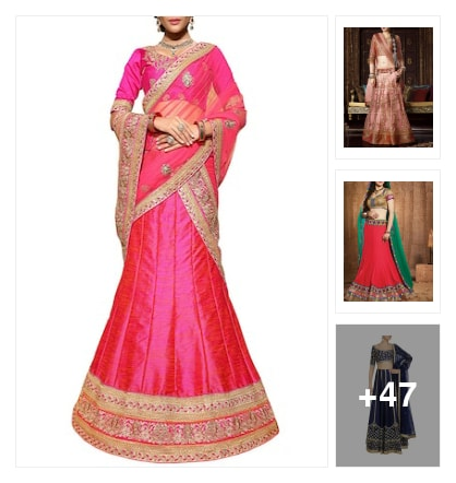 lehangas. Online shopping look by Govind