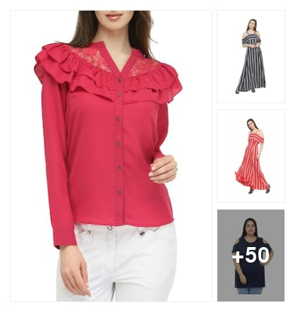 Upto 80 % Off on plus size apparel. Online shopping look by Devi