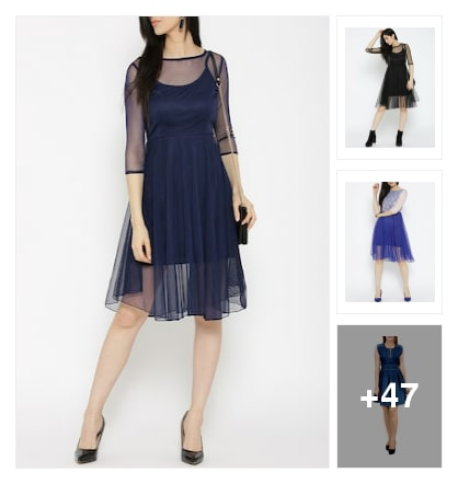 Flit Flare Dresses For You Beautiful Girls. Online shopping look by Devi
