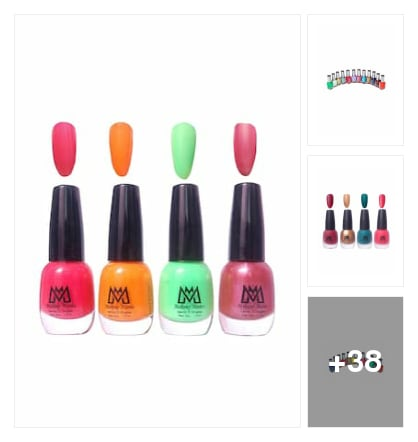 Beautiful colours of nail Polish . Online shopping look by Geeta