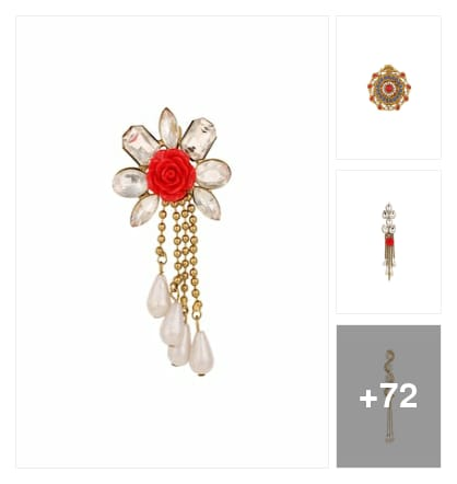 brooches for girls swag. Online shopping look by Sandhya