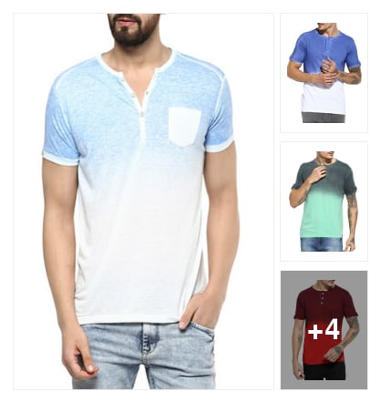 The Ombre fun .....latest summer tees for men. Online shopping look by Sunehri