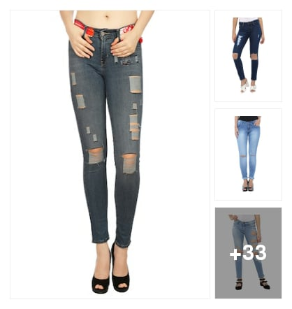 Recommend Distressed jeans!. Online shopping look by mansi
