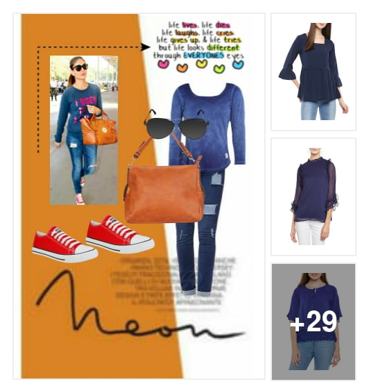 """Favourite Pick :- Street Style With Kareena Kapoor ""👇. Online shopping look by Kinki"