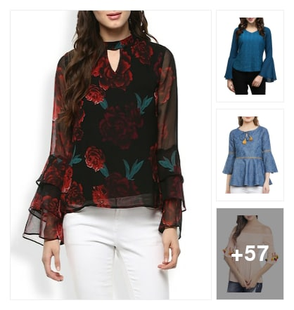 Trending sleeves tops. Online shopping look by Deepali
