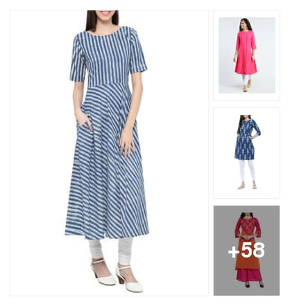 Pocket kurtis, you must love. Online shopping look by Manisha