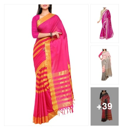 Super striped sarees. Online shopping look by 🐢Sweety 🙏