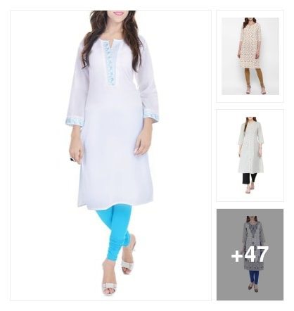 White cotton kurtas. Online shopping look by sreekanth