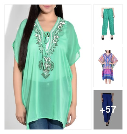 Kurtas n palazzos. Online shopping look by Pratibha
