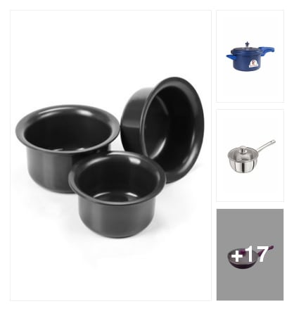 Cookware sets . Online shopping look by keerthi