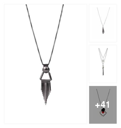 Metal necklace set. Online shopping look by Reena