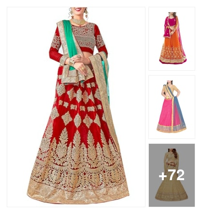 Net lehengas. Online shopping look by max