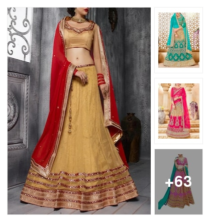 Lehenga exclusives. Online shopping look by max
