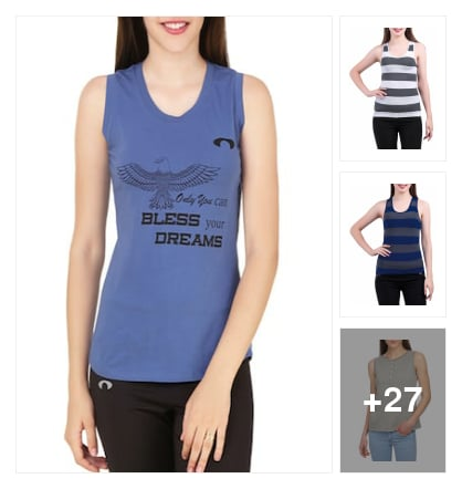 Suistainable  Tank  Tees  for  Women. Online shopping look by ANU