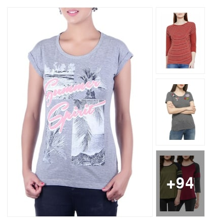 NICE TEES FOR LADIES. Online shopping look by vidya