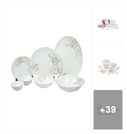 Dinner sets. Online shopping look by Jai