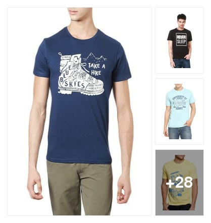 T shirt under 299/- only- hurry up guys. Online shopping look by Jayasmita