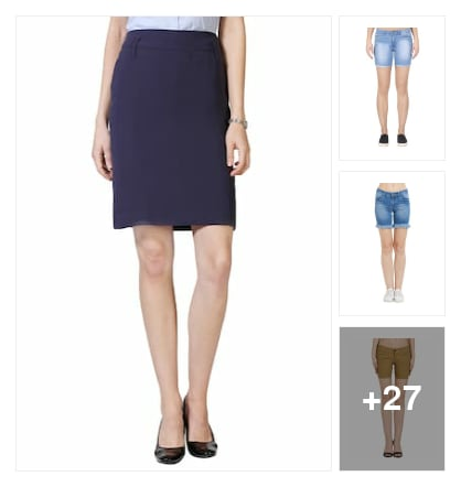 Skirts and shorts for crazy parties . Online shopping look by vikram