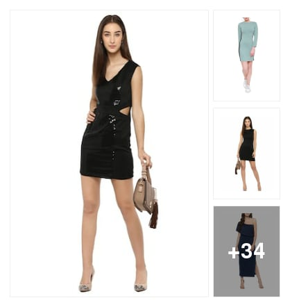 Beautiful bodycon dresses!!. Online shopping look by mansi