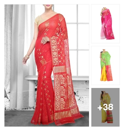jamdani saree collection for your swag look. Online shopping look by Sandhya