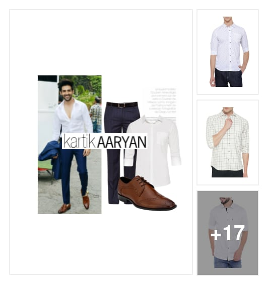 Style Inspiration : Get As Stylish As Kartik. Online shopping look by Pankh