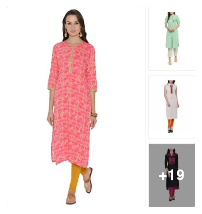 Wardrobe essential :- some selected piece of kurta. Online shopping look by Kinki
