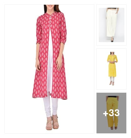 Kurta N Palazzo set. Online shopping look by Shona
