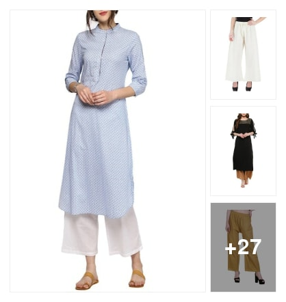 Kurtas and palazzo. Online shopping look by Sakshi