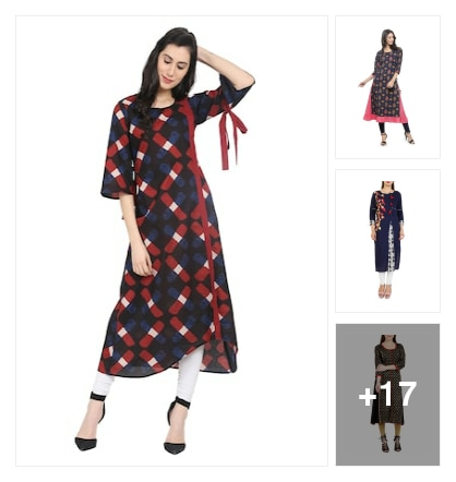 Wardrobe essential :- A-line kurta here. Online shopping look by Kinki