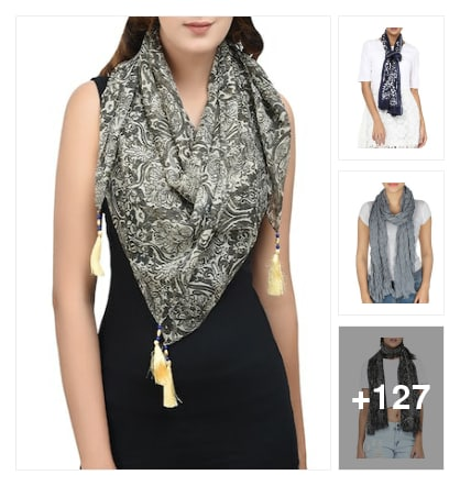 Scarves for college girls and working women liked items . Online shopping look by kalpana