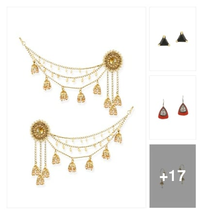 Earrings. Online shopping look by prasad