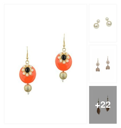 Wonderful earrings. Online shopping look by lahari